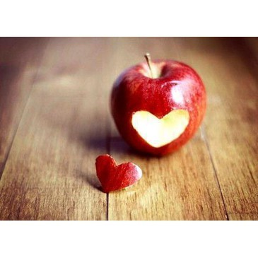 apple, delicious, fairy tale, food, heart, red, snow white, vintage, wood