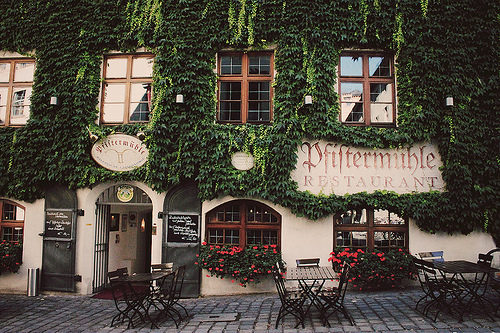 architecture, flowers, paris, restaurant, roma