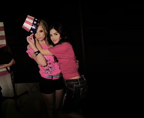 aria montgomery, ashley benson, beautiful, cute, friends