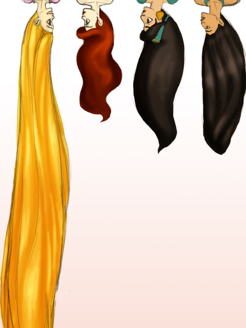 ariel, black hair, blonde, brown hair, cute, jasmine, pochahontas, princess, princesses, rapunzel, red hair