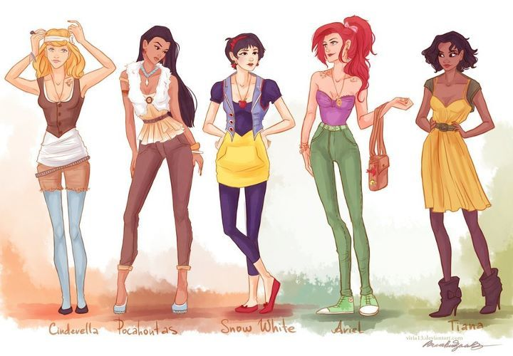 ariel, cinderella, disney princess, fashion, pocahontas