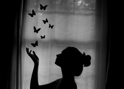 art, beautiful, black and white, butterfly, fly