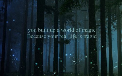 art, because, dark, fantasy, florest, glitter, life, lights, magic, night, photography, text, true