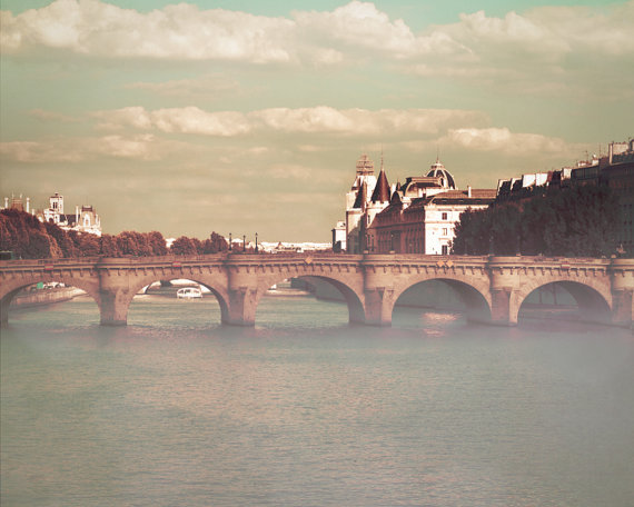 art, bridge, etsy, fine, paris