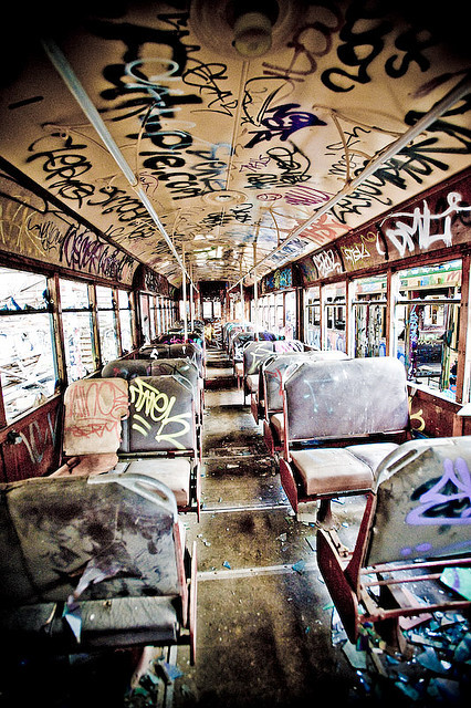 art, bus, graffiti