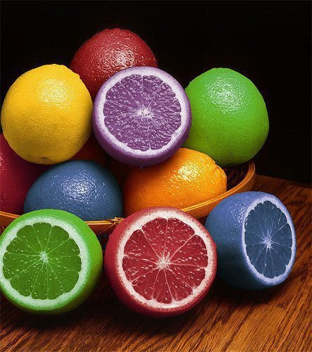 art, color, colorfull, colors, colours, fruit, lemon, lemons, photography, rainbow