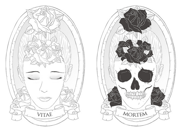 art, coque, death, drawing, girl