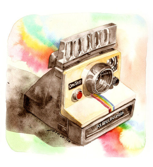 art, cute, drawing, polaroid, rainbow