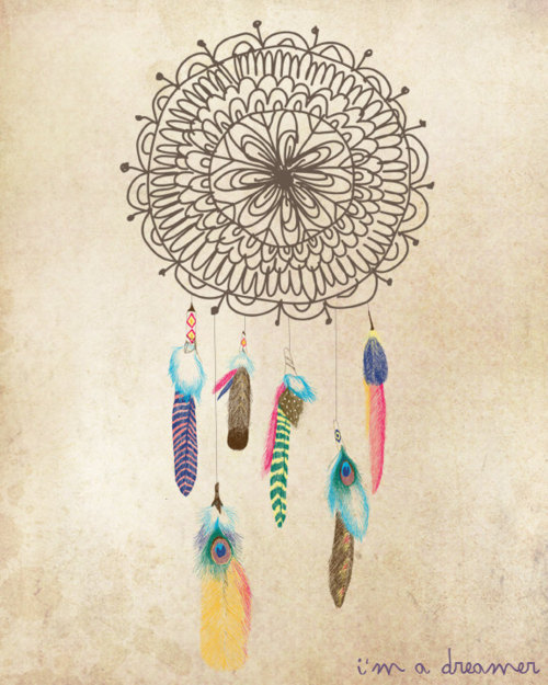 art, dream catcher, drwing, feathers, magic