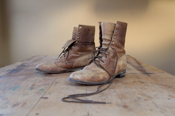 artsy, boots, brown, combat boots, fashion, shoes, vintage, wood