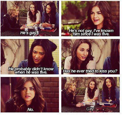ashley benson, haha, lol, lucy hale, pll