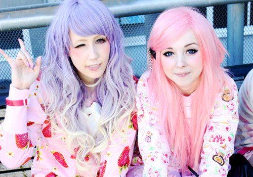asian, clothes, color hair, hairspiration, lolita, pastel, pink, pink hair, purple, purple hair, style, sweet