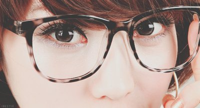 asian girl, cute, eyes, glasses, kawaii