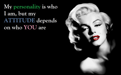 attitude, beautiful, marilyn, marilyn monroe, monroe, personality, pretty, problem, quotes, text, woman, women, words