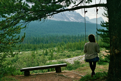 ature, awesome, forest, girl, mountains