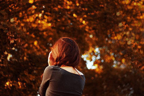 autumn, beautiful, fall, girl, hair, leaves, nature, photograph, photography, redhead, trees