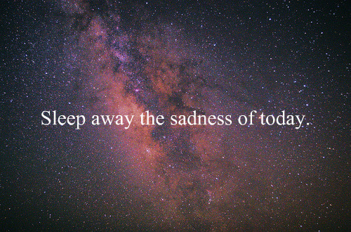 away, galaxy, sadness, sleep, stars