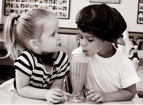 awe, cute, food, kids, love, vintage