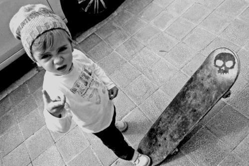 awesome, b&w, black and white, boy, child, kid, lovely, sk8ter, skater