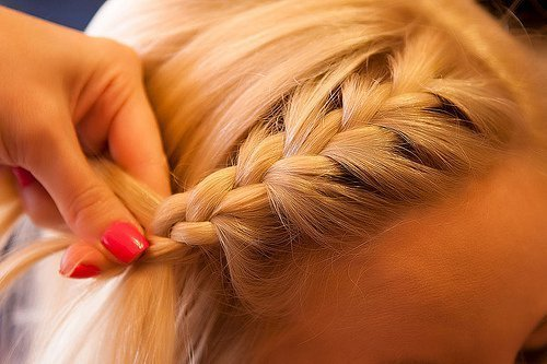 awesome, beautiful, beauty, blond, blonde, blonde hair, braid, cool, cute, nails, nice, pretty