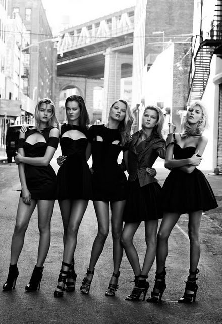 awesome, beautiful, black, blonde, brown, cute, dress, dresses, fashion, girl, girls, high heels, hot, kasia strus, magdalena frackowiak, model, models, outside, party, polish models, sexy, stairs, street, summer