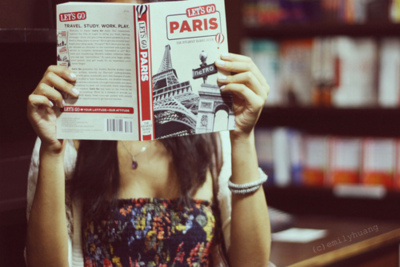 awesome, beautiful, book, chick, cool, cute, dress, eiffel tower, girl, hot, nice, paris, pretty
