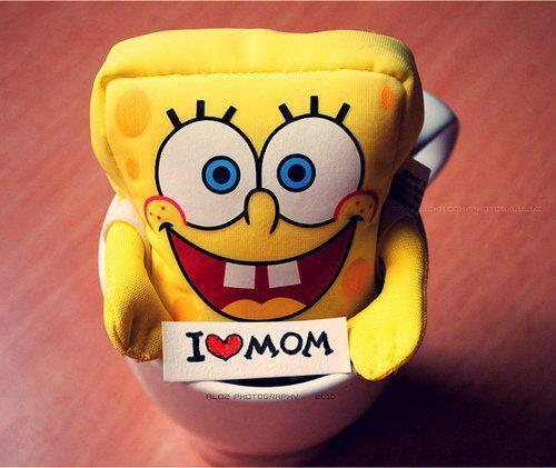 awesome, big eyes, cute, heart, love, mom, mommy, smile, spongebob, squarebants, yellow