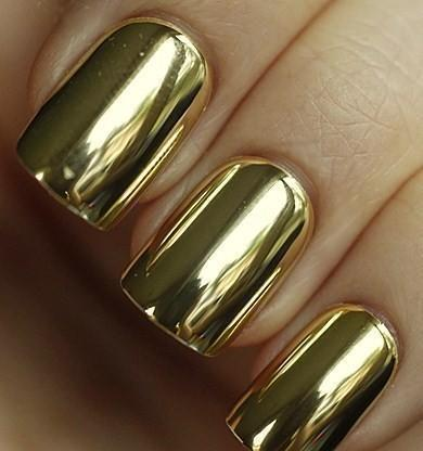 awesome, golden, nail art, nail polish