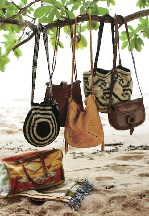 aztec print, bag, bags, beach, branch