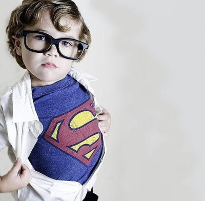 baby, baby boy, cute, fashion, geek, glasses, kid, style, super homem, super man