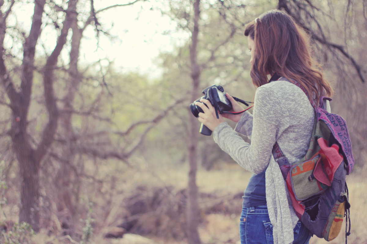 backpack, beautiful, bokeh, camera, cute