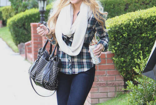 bag, beautiful, blonde, clothes, drink