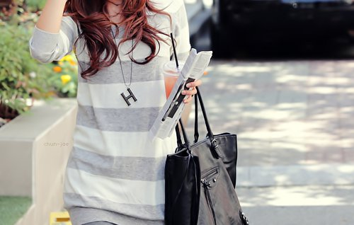 bag, beautiful, clothes, fashion, hair