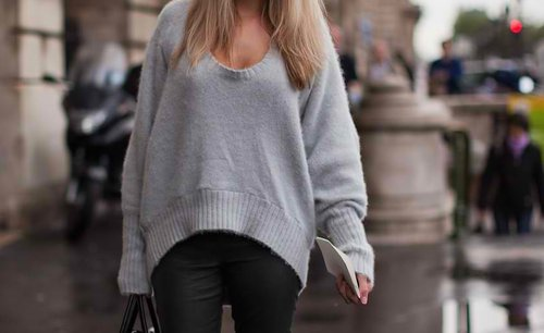 bag, blonde, cachemire, classy, fashion week, france, girl, hair, jean, long hair, model, paris, paris fashion week, photography, pull, pull over, street style, sweat, sweater