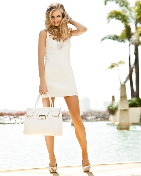 bag, blonde, dress, fashion, forever new