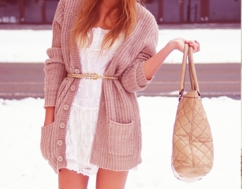 bag, cardigan, cute, fashion, kint