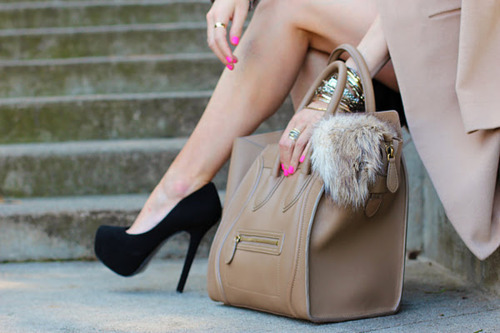 bag, cute, fashion, girl, heels, high heels, leg, love, nail polish, nails, pink, pretty, shoes