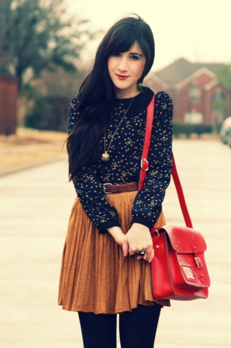 bag, delicate, fashion, girl, makeup, red