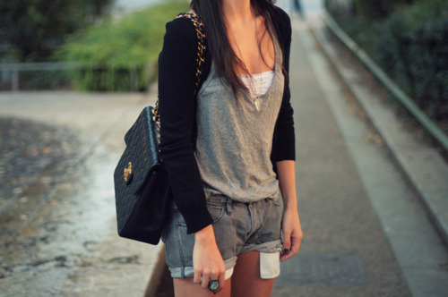 bag, fashion, girl, hair, jeans