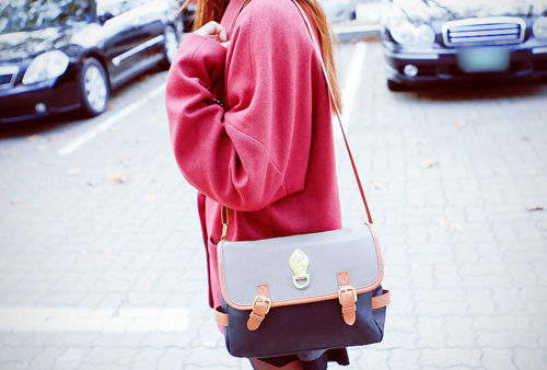 bag, fashion, girl, kfashion, korean fashion, pink, style, ulzzang