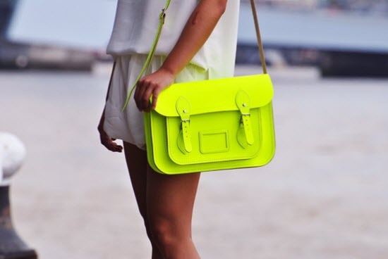 bag, fashion, lime, neon, satchel