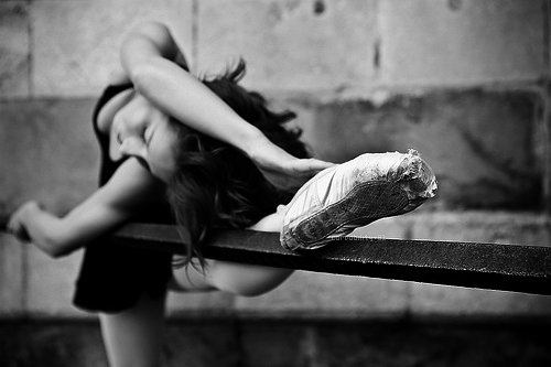 ballerina, ballet, black, black and white, girl