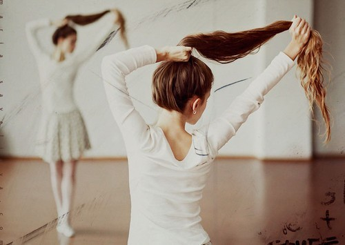 ballerina, ballet, cute, girl, hair