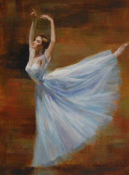 ballerina, blue, dance, dancing, dress