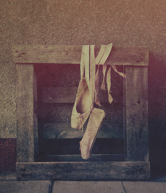 ballet, ballet shoes, flats, old, photography