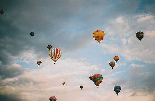 balloon, balloons, beautiful, blue, cloud, clouds, ophidiophobic, sky