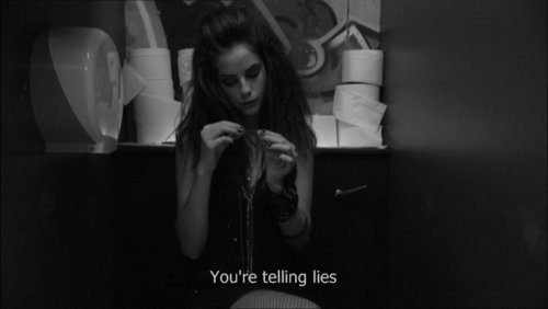 b&amp;w, black and white, depressed, effy, lie
