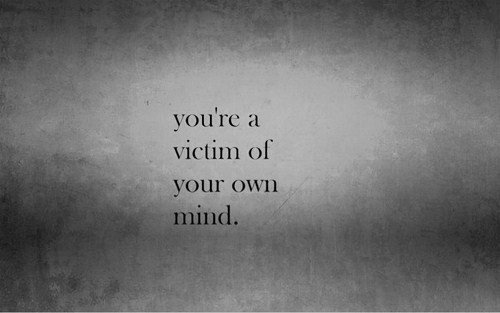 b&amp;w, mind, text, victim