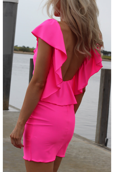 barbie, beautiful, blonde, cool, cute, dress, fashion, girl, hair, neon, photography, pink, sexy, tan