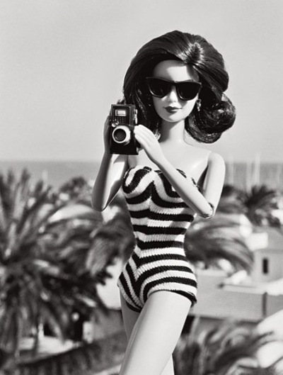 barbie, black and white, cool, cute, doll